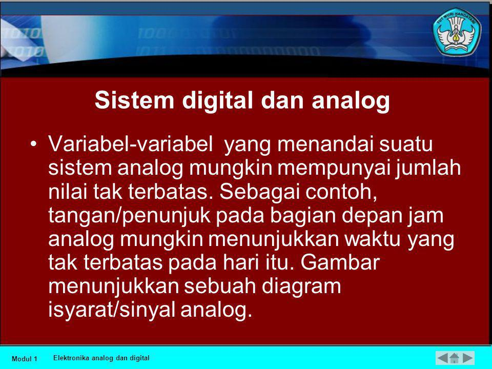 Sistem digital dan analog