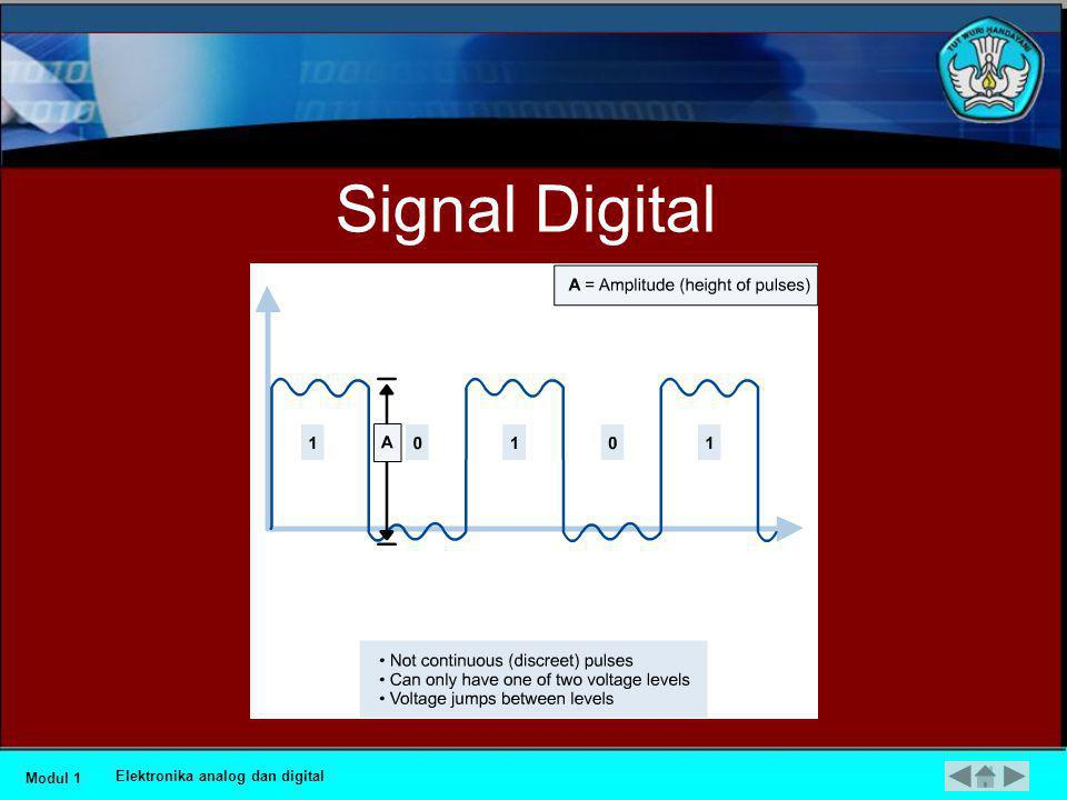 Signal Digital Modul 1 Elektronika analog dan digital