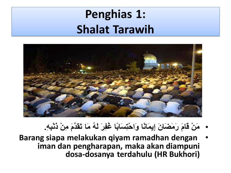 Penghias 1: Shalat Tarawih