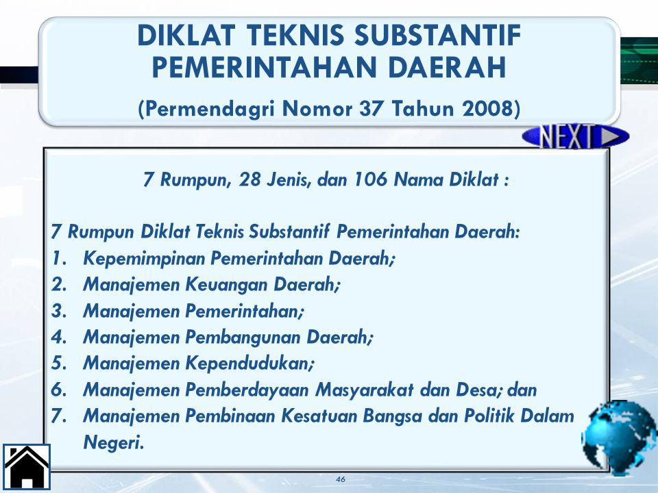 DIKLAT TEKNIS SUBSTANTIF PEMERINTAHAN DAERAH
