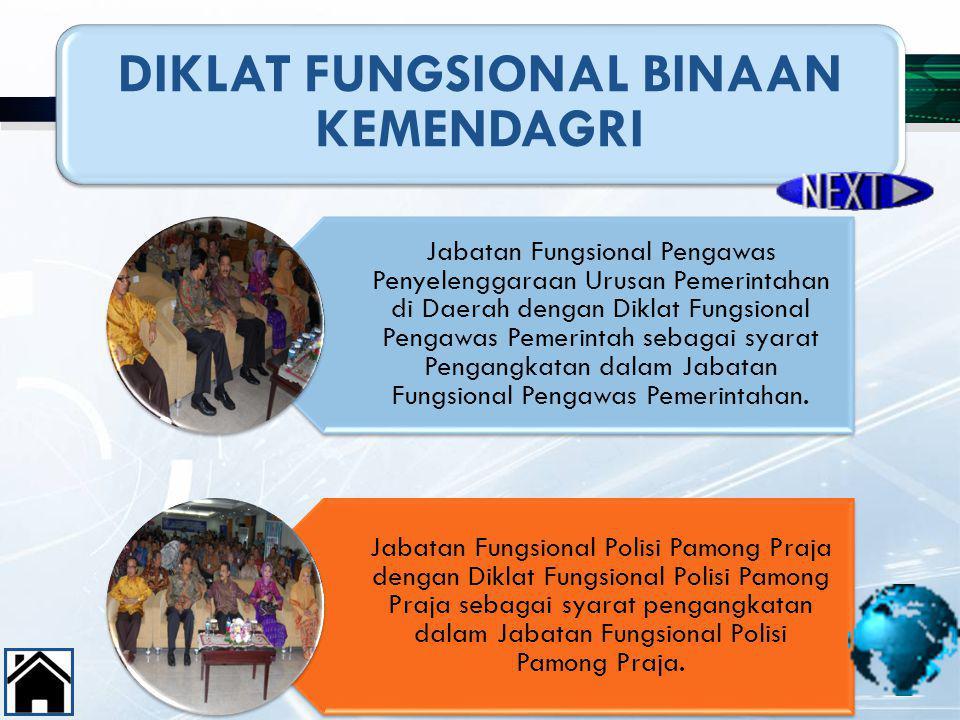 DIKLAT FUNGSIONAL BINAAN KEMENDAGRI