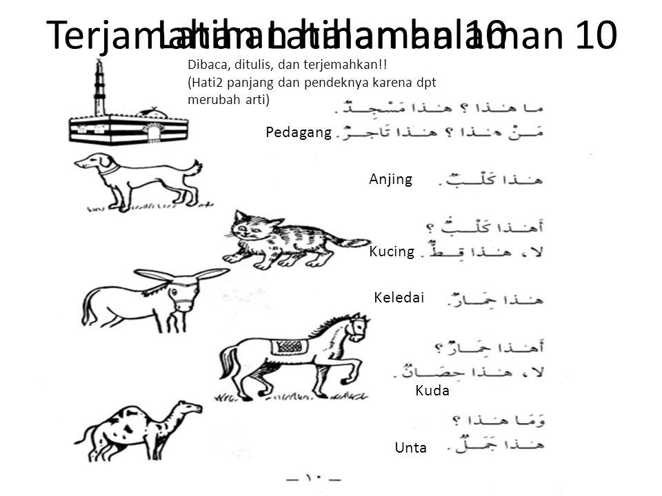 Terjamahan Latihan halaman 10