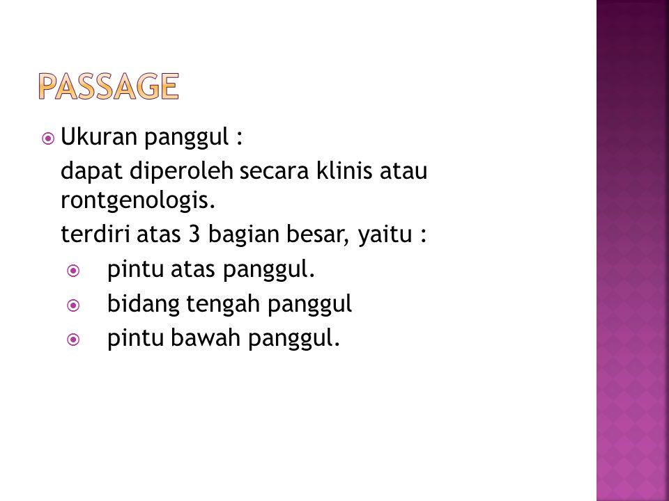passage Ukuran panggul :