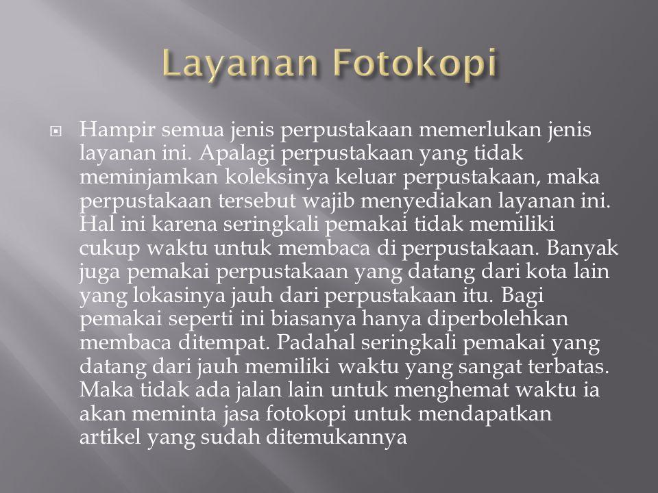 Layanan Fotokopi