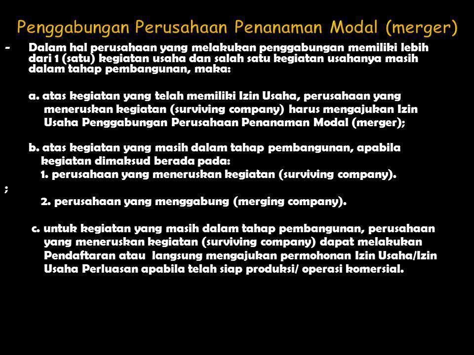 Penggabungan Perusahaan Penanaman Modal (merger)