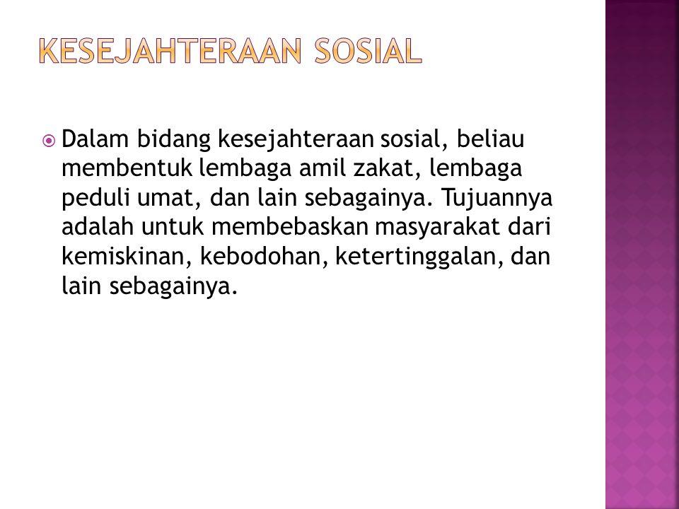 kesejahteraan sosial