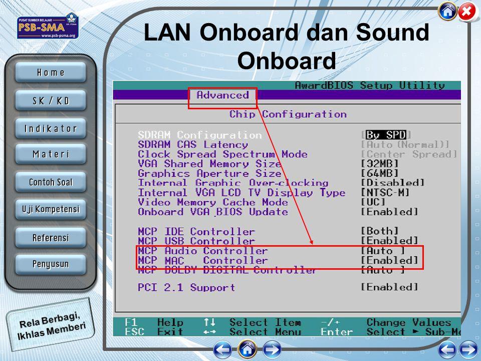 LAN Onboard dan Sound Onboard