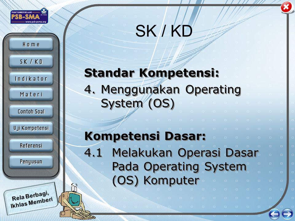 SK / KD Standar Kompetensi: Menggunakan Operating System (OS)