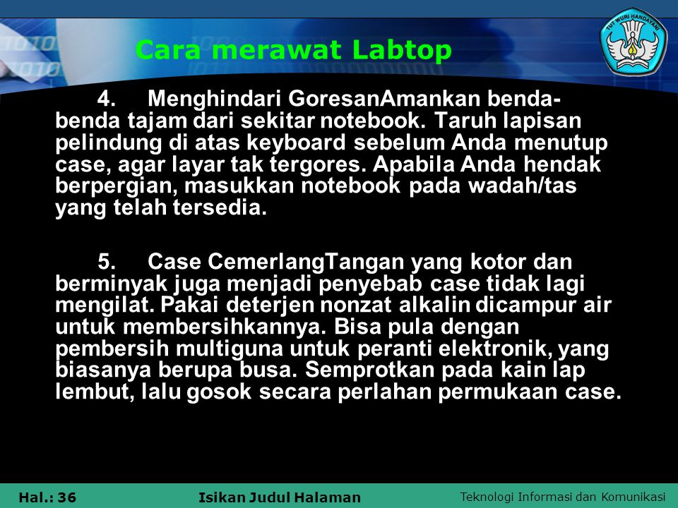 Cara merawat Labtop