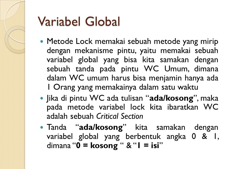 Variabel Global