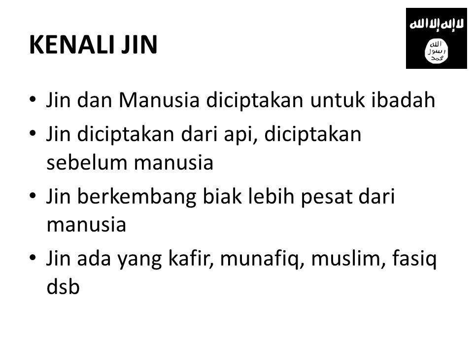 KENALI JIN Jin dan Manusia diciptakan untuk ibadah