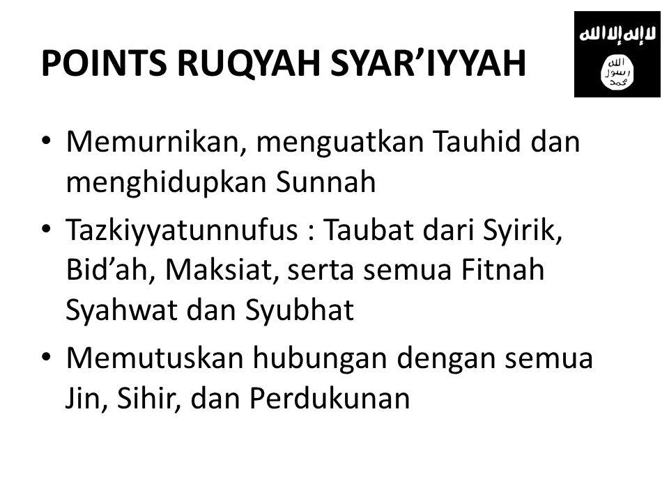 POINTS RUQYAH SYAR'IYYAH