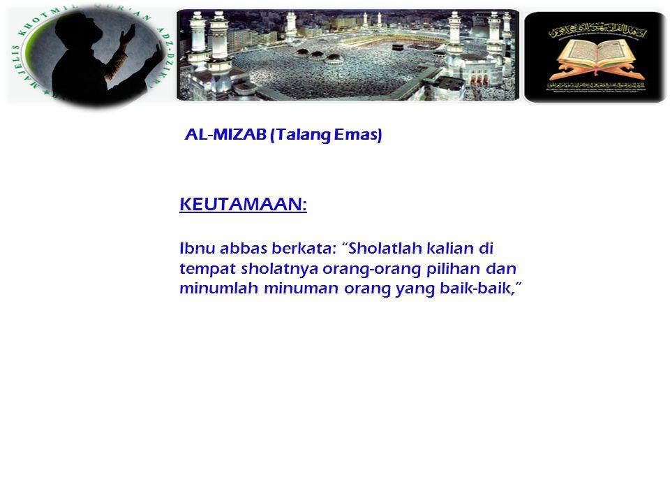 AL-MIZAB (Talang Emas)