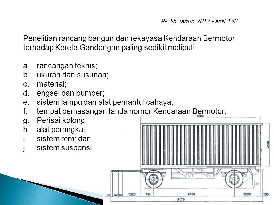 sistem lampu dan alat pemantul cahaya;