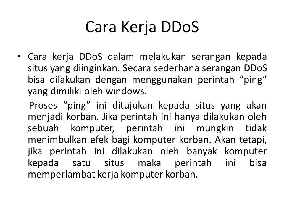 Cara Kerja DDoS