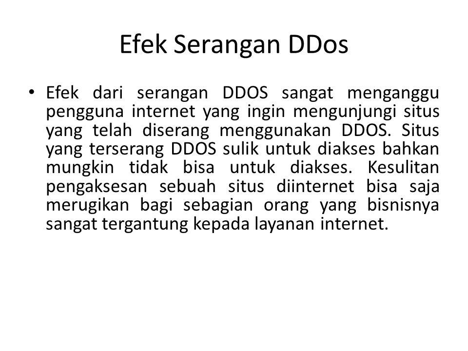 Efek Serangan DDos