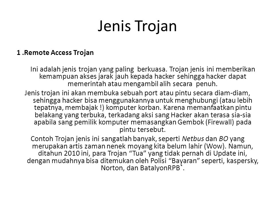 Jenis Trojan