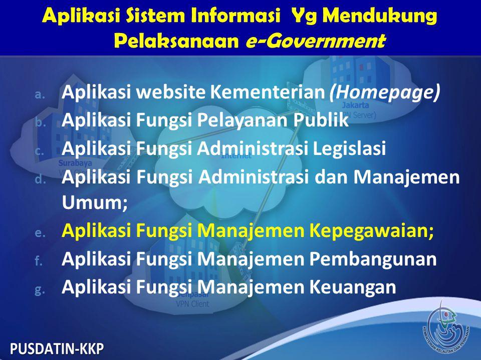 Aplikasi Sistem Informasi Yg Mendukung Pelaksanaan e-Government