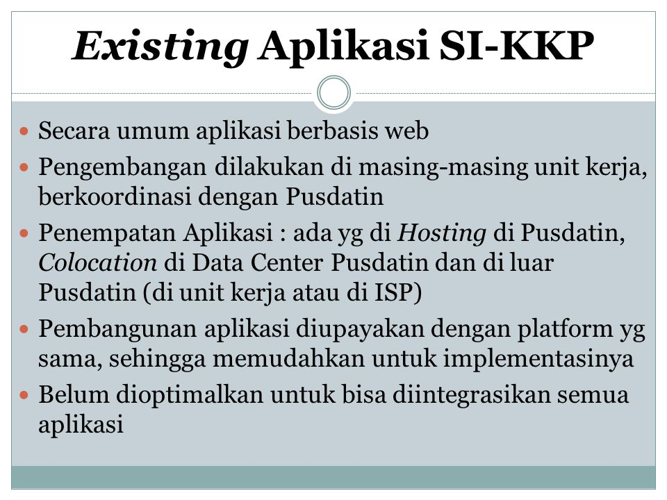 Existing Aplikasi SI-KKP