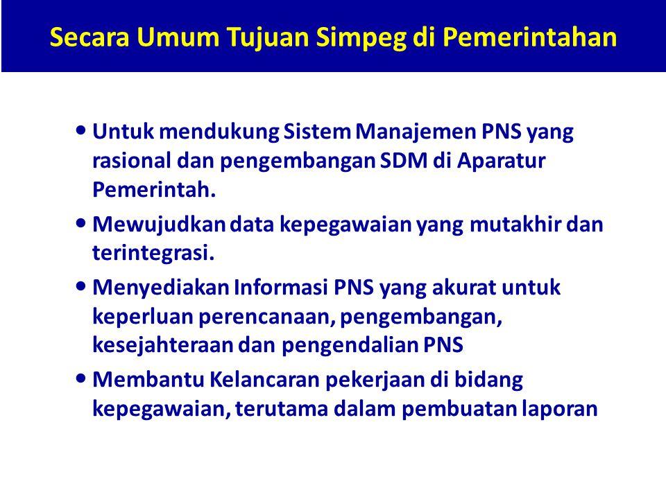 Secara Umum Tujuan Simpeg di Pemerintahan