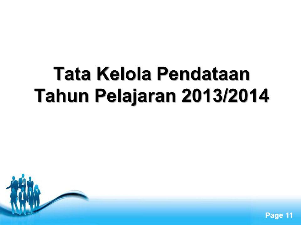 Tata Kelola Pendataan Tahun Pelajaran 2013/2014