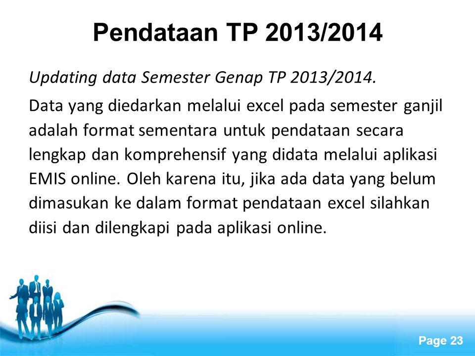 Pendataan TP 2013/2014