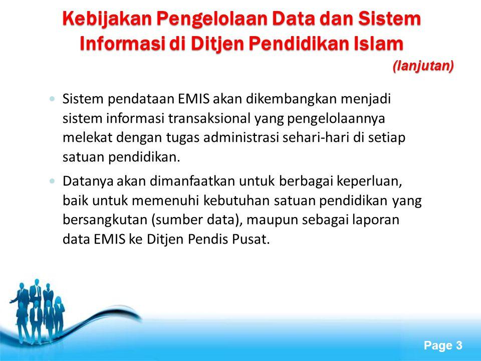 Kebijakan Pengelolaan Data dan Sistem Informasi di Ditjen Pendidikan Islam