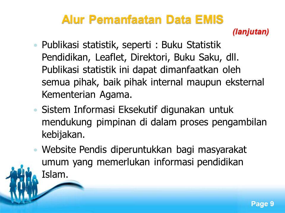 Alur Pemanfaatan Data EMIS