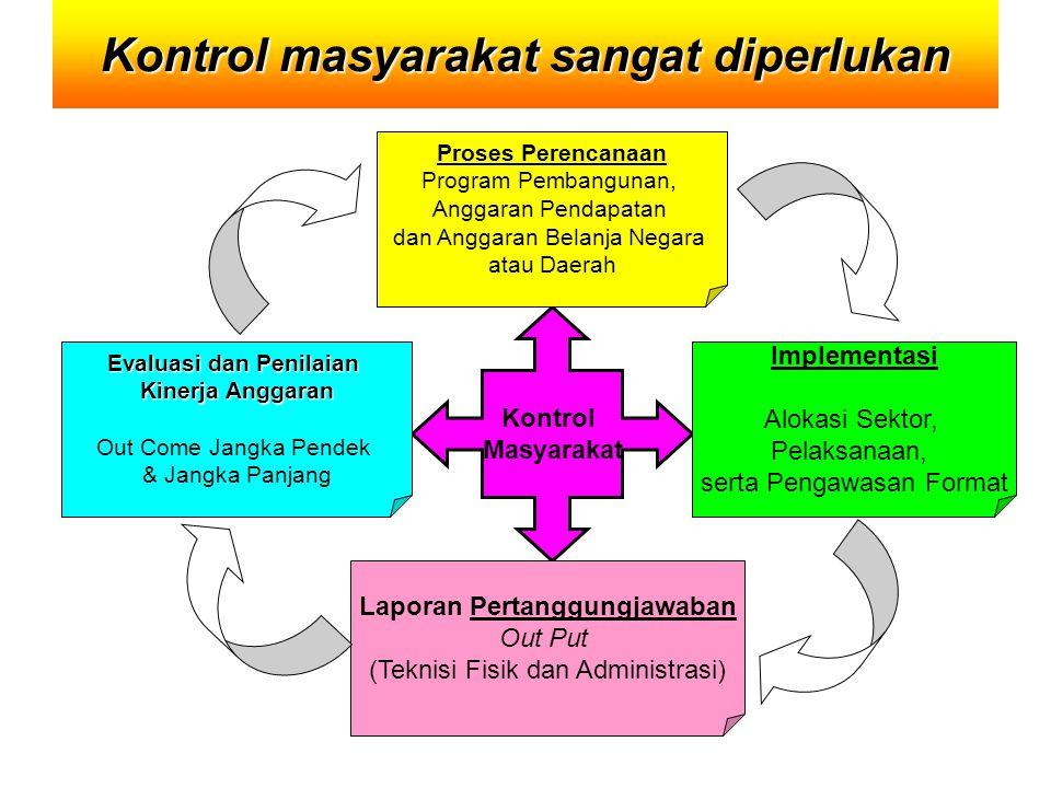 Kontrol masyarakat sangat diperlukan