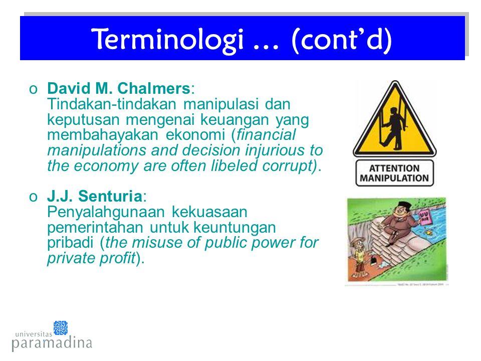 Terminologi … (cont'd)