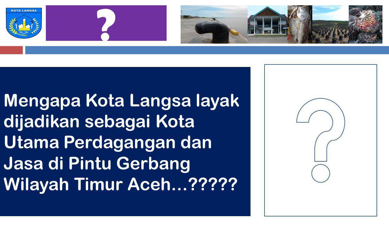 Mengapa Kota Langsa layak dijadikan sebagai Kota Utama Perdagangan dan Jasa di Pintu Gerbang Wilayah Timur Aceh...