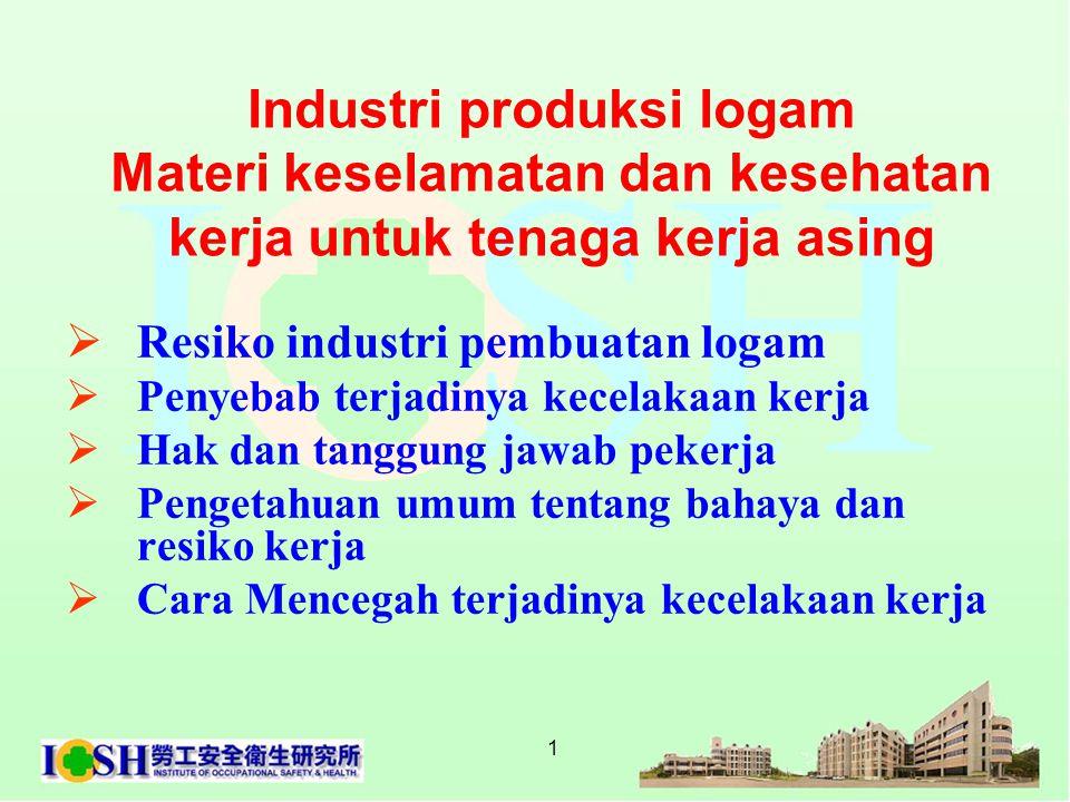 Materi keselamatan dan kesehatan kerja untuk tenaga kerja asing