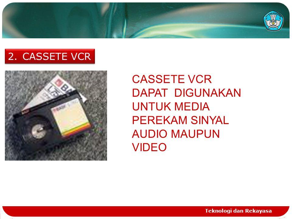 CASSETE VCR CASSETE VCR DAPAT DIGUNAKAN UNTUK MEDIA PEREKAM SINYAL AUDIO MAUPUN VIDEO.