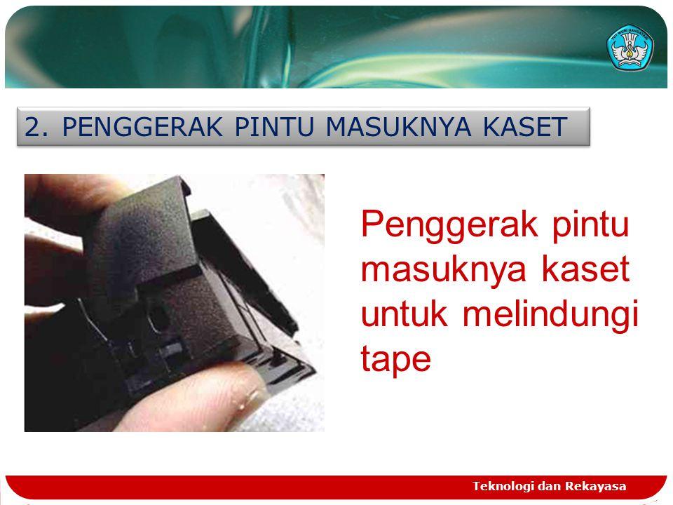 Penggerak pintu masuknya kaset untuk melindungi tape