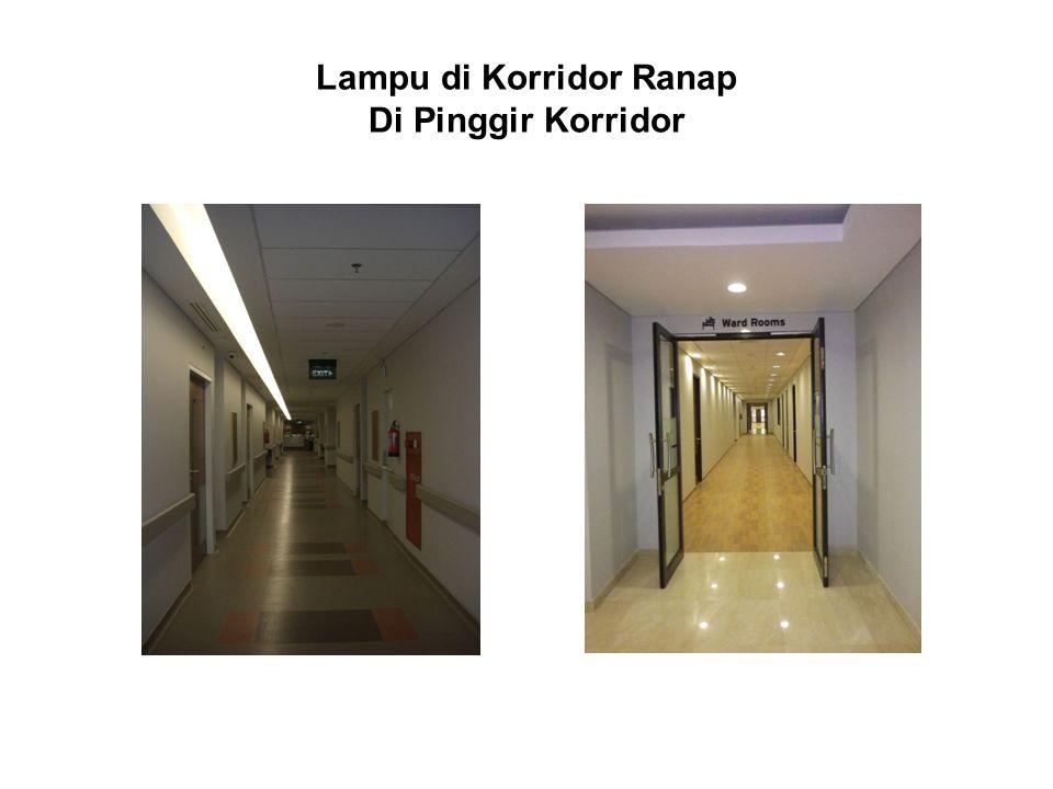 Lampu di Korridor Ranap Di Pinggir Korridor