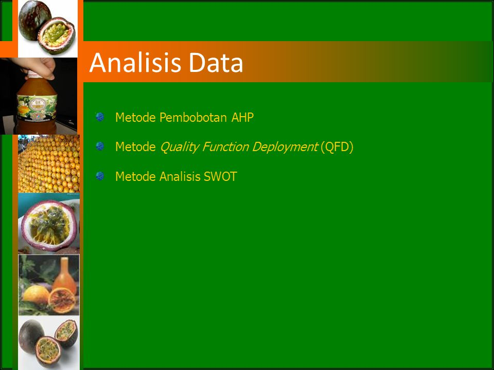 Analisis Data Metode Pembobotan AHP