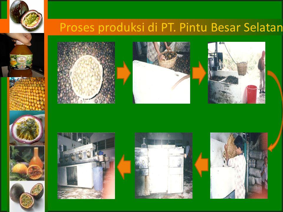 Proses produksi di PT. Pintu Besar Selatan