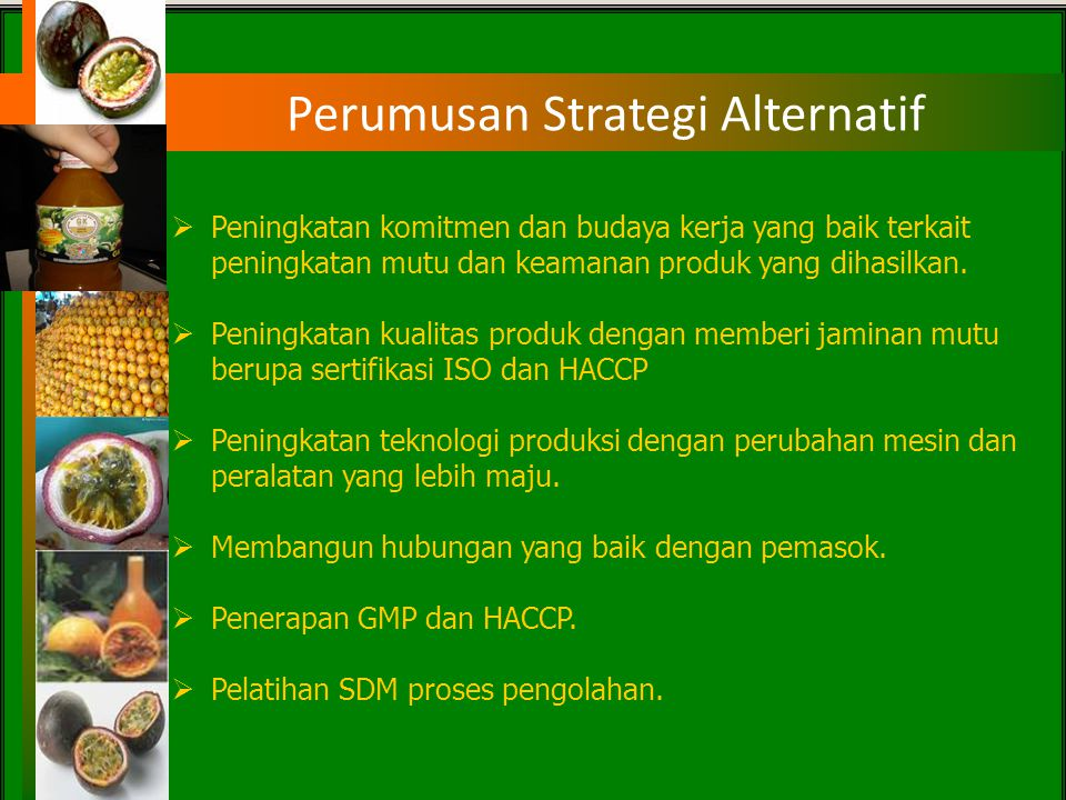 Perumusan Strategi Alternatif