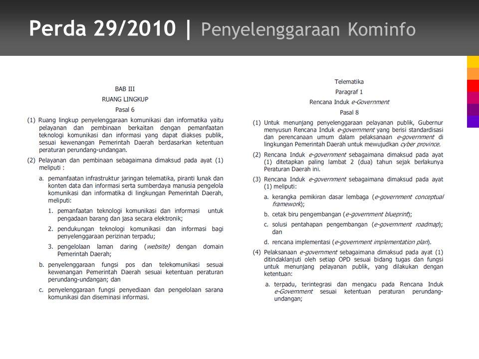 Perda 29/2010 | Penyelenggaraan Kominfo
