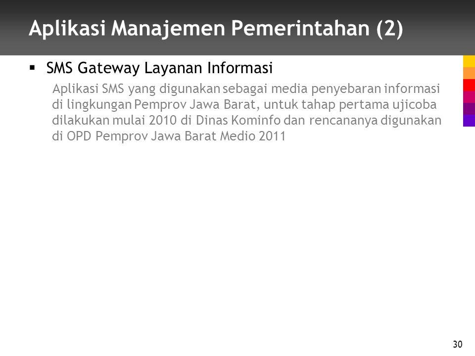 Aplikasi Manajemen Pemerintahan (2)
