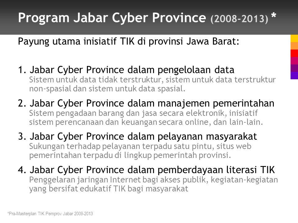 Program Jabar Cyber Province (2008-2013) *