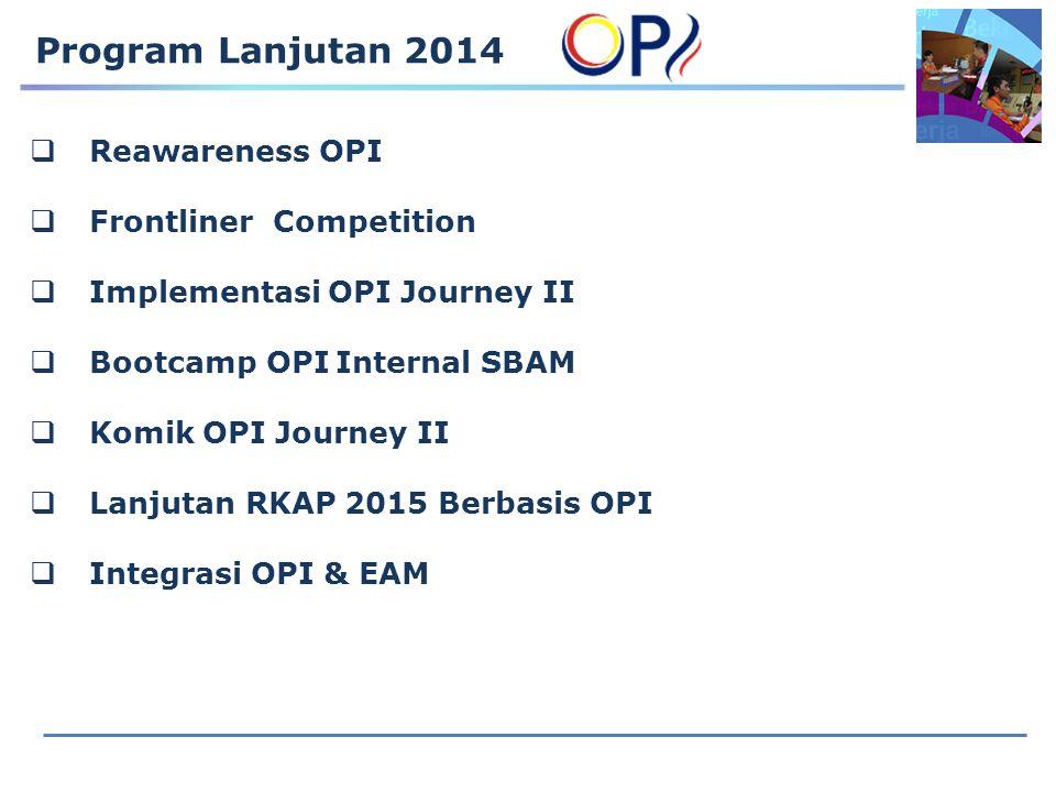 Program Lanjutan 2014 Reawareness OPI Frontliner Competition