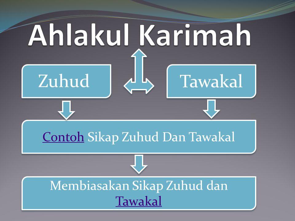 Ahlakul Karimah Tawakal Zuhud Contoh Sikap Zuhud Dan Tawakal