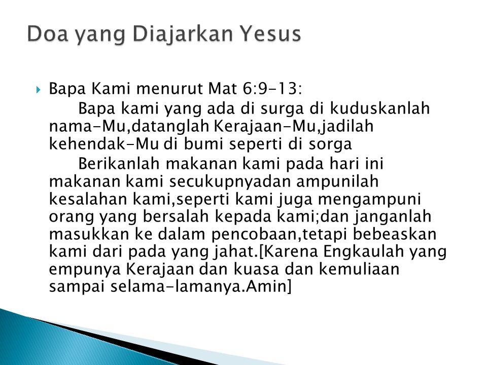 Doa yang Diajarkan Yesus
