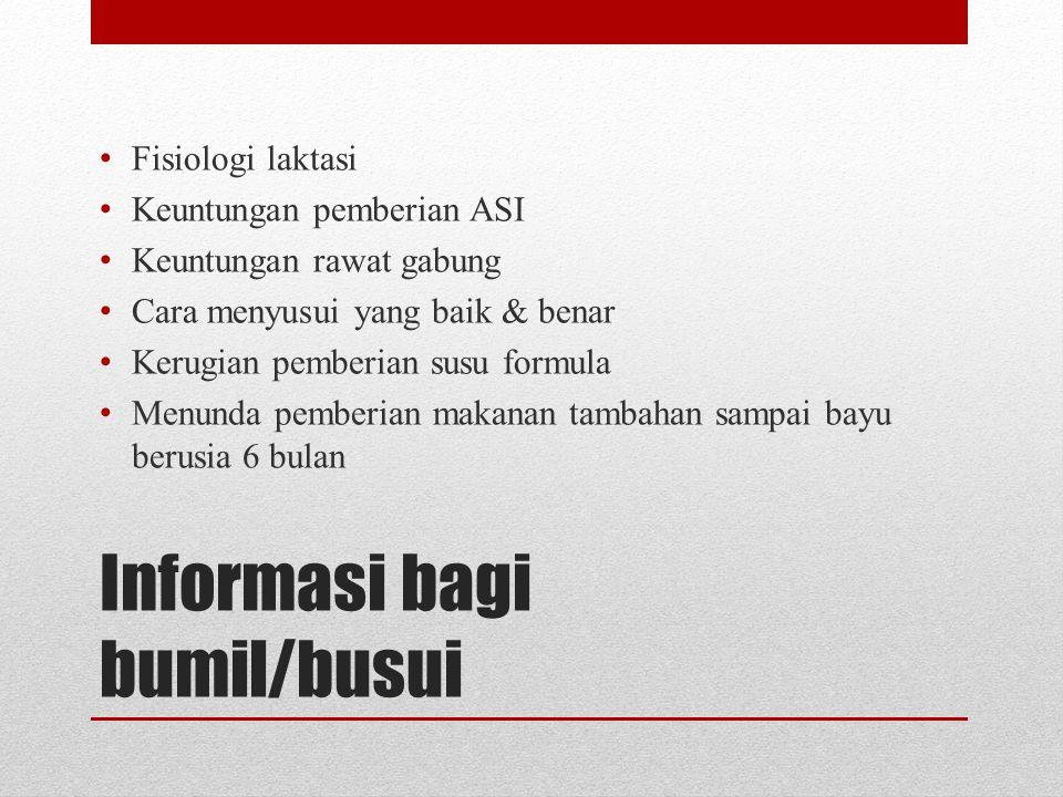 Informasi bagi bumil/busui