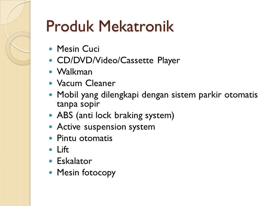 Produk Mekatronik Mesin Cuci CD/DVD/Video/Cassette Player Walkman