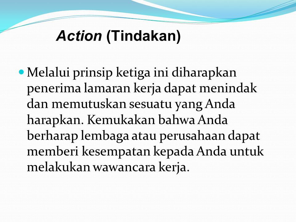 Action (Tindakan)