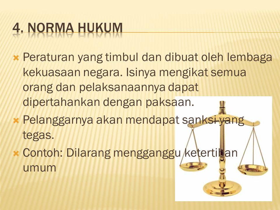 4. Norma hukum