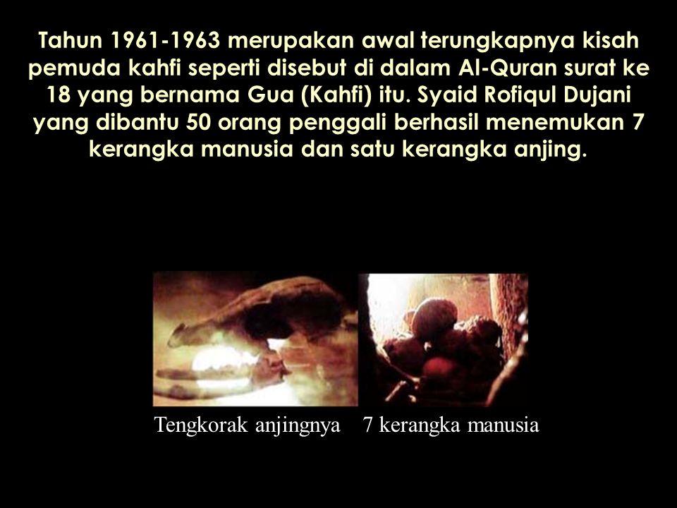 Tahun 1961-1963 merupakan awal terungkapnya kisah