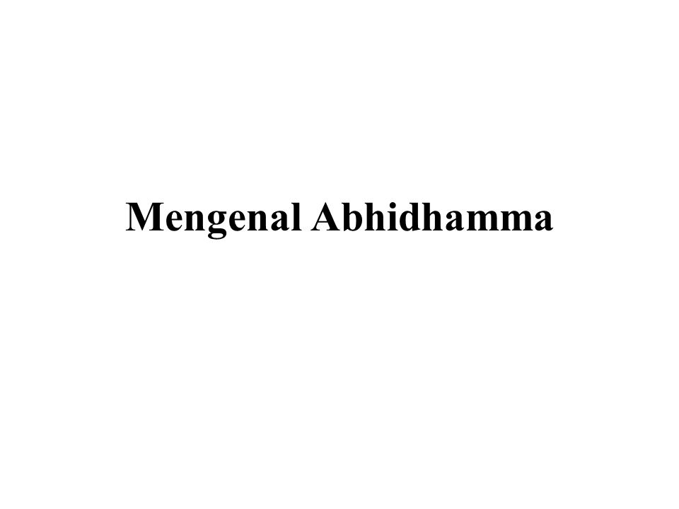 Mengenal Abhidhamma